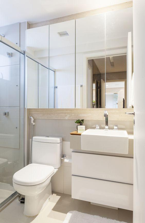 Banheiros modernos veja 75 incr veis modelos com dicas for Pisos pequenos modernos