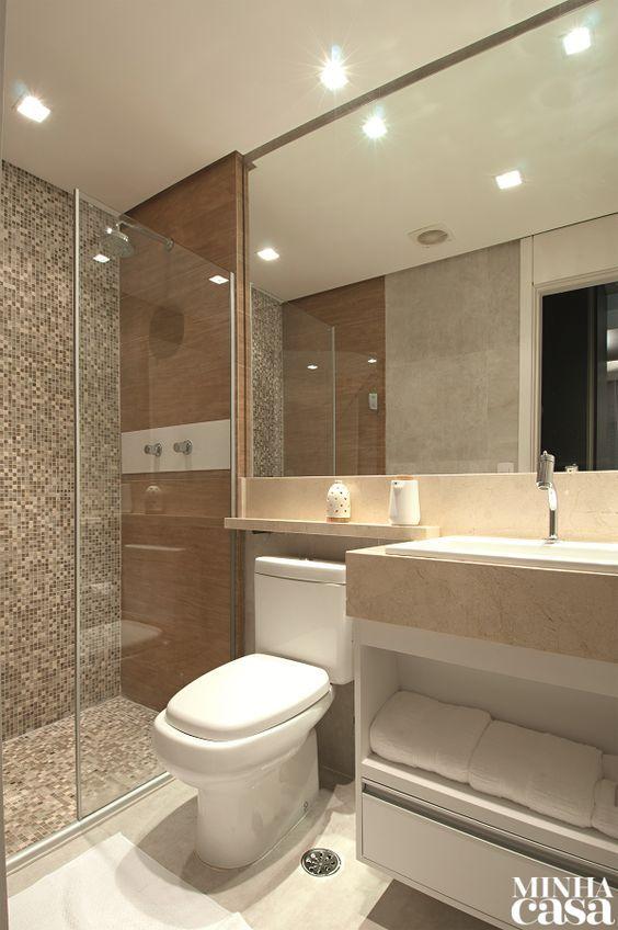 Banheiros modernos veja 75 incr veis modelos com dicas for Modelos de armarios modernos