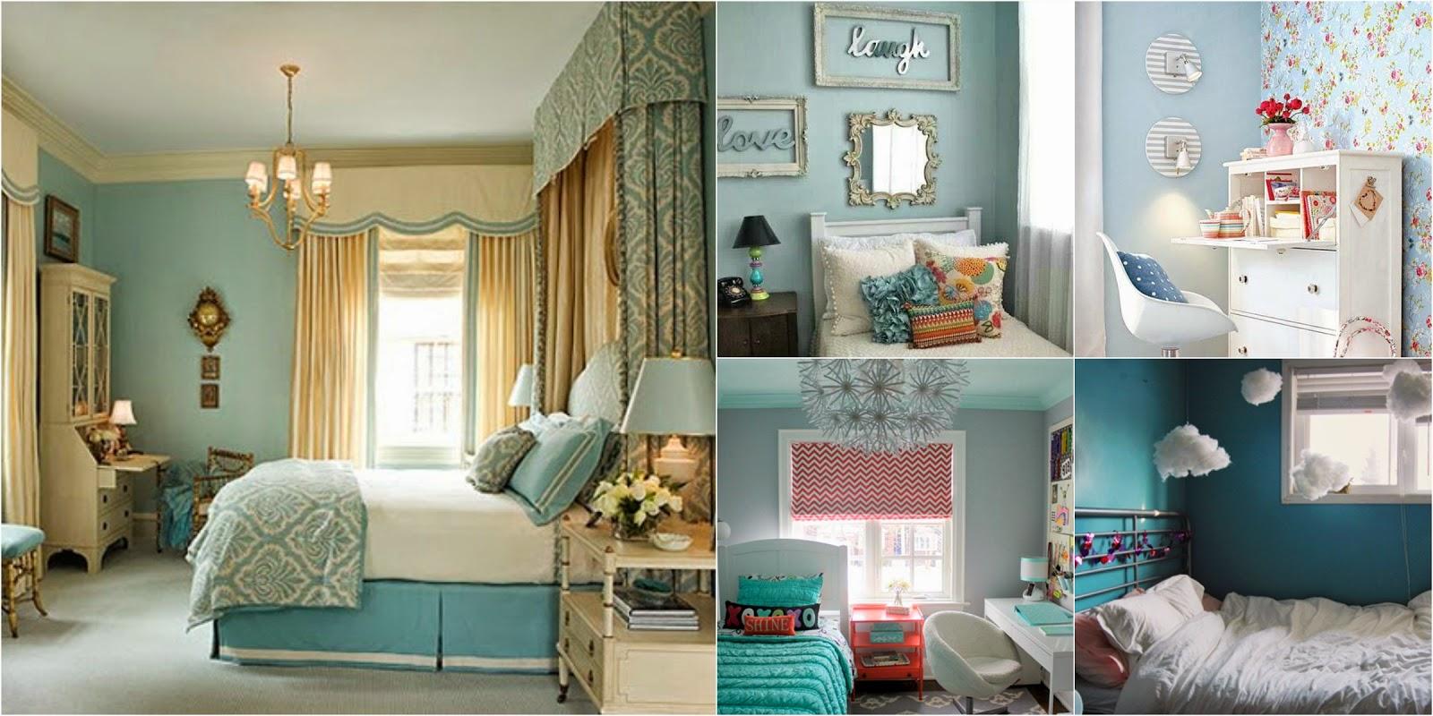 quarto azul branco e dourado