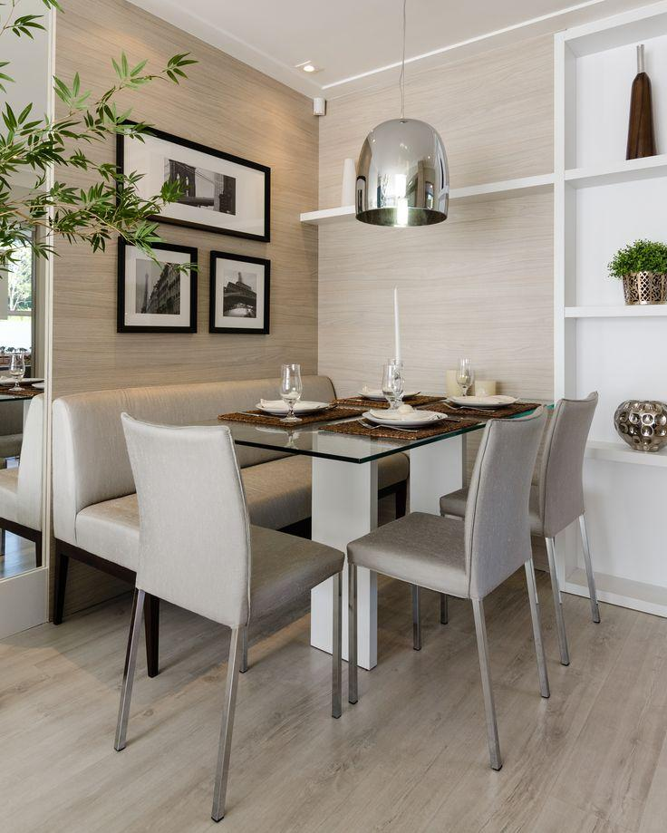 sala de jantar pequena branca