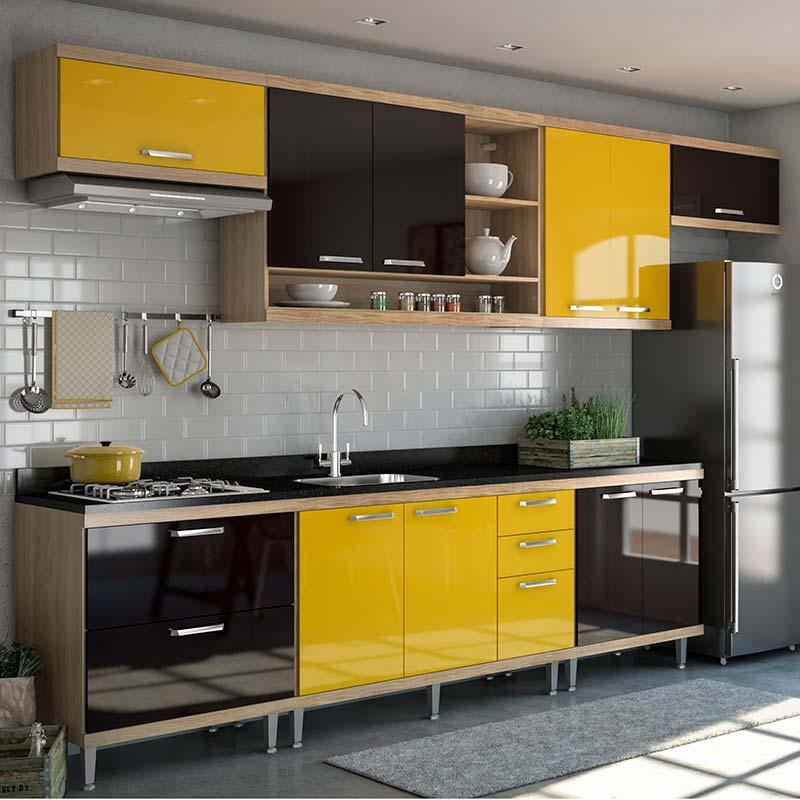 Cozinha amarela veja 65 modelos para se inspirar hoje - Interiores de armarios leroy merlin ...