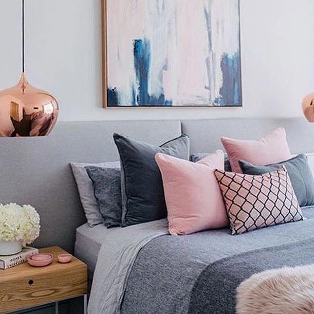 Navy Blue Bedroom Colors Dusty Pink Bedroom Accessories Small Bedroom Chairs Ikea Good Bedroom Color Schemes: Decoração De Quartos Femininos