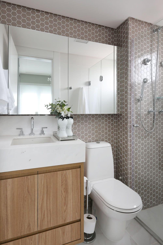 Banheiro retro moderno
