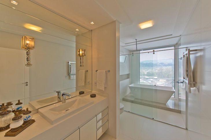 Banheiro vintage moderno