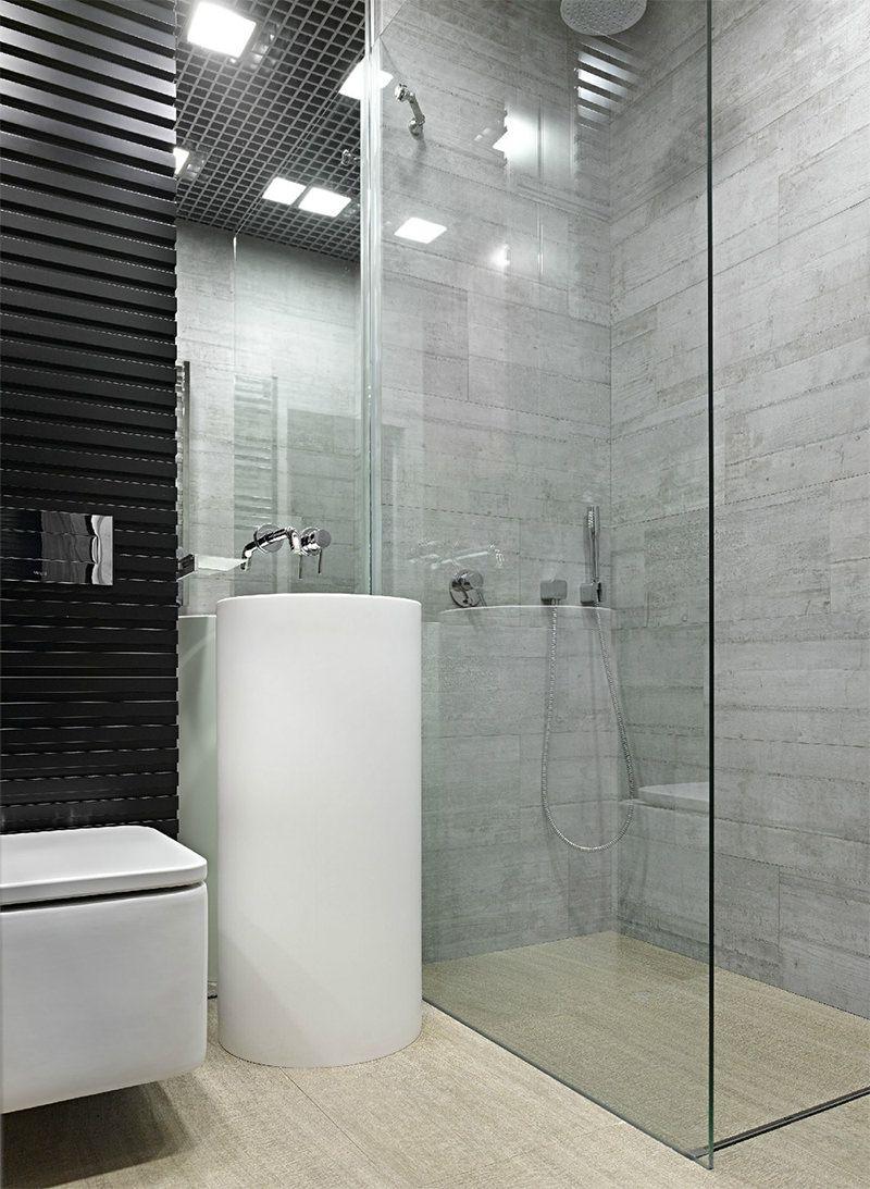 Banheiros quadrados modernos