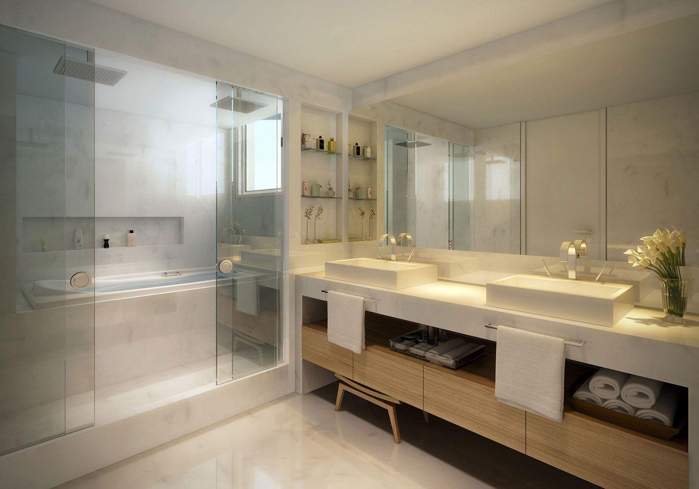 Banheiros suítes moderno