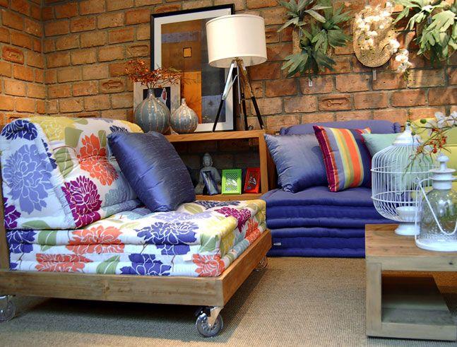Sofá de palletcom futon