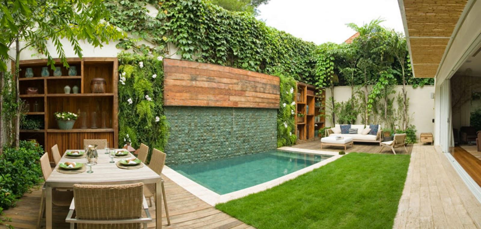 area de lazer pequena com jardim