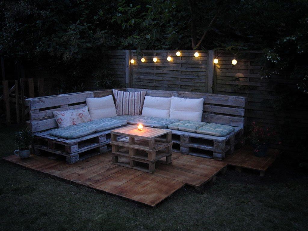 sofa de pallet area externa