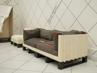 sofa de pallet de plastico