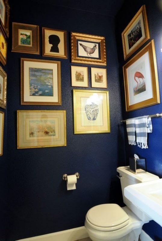 Decorando com fotos artisticas no banheiro