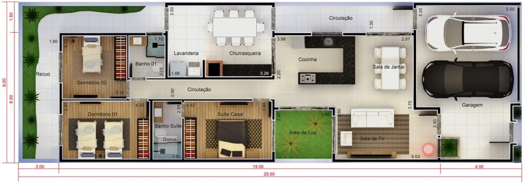 Plantas de casas pequenas 60 projetos e modelos gr tis for Casa moderna 90m2