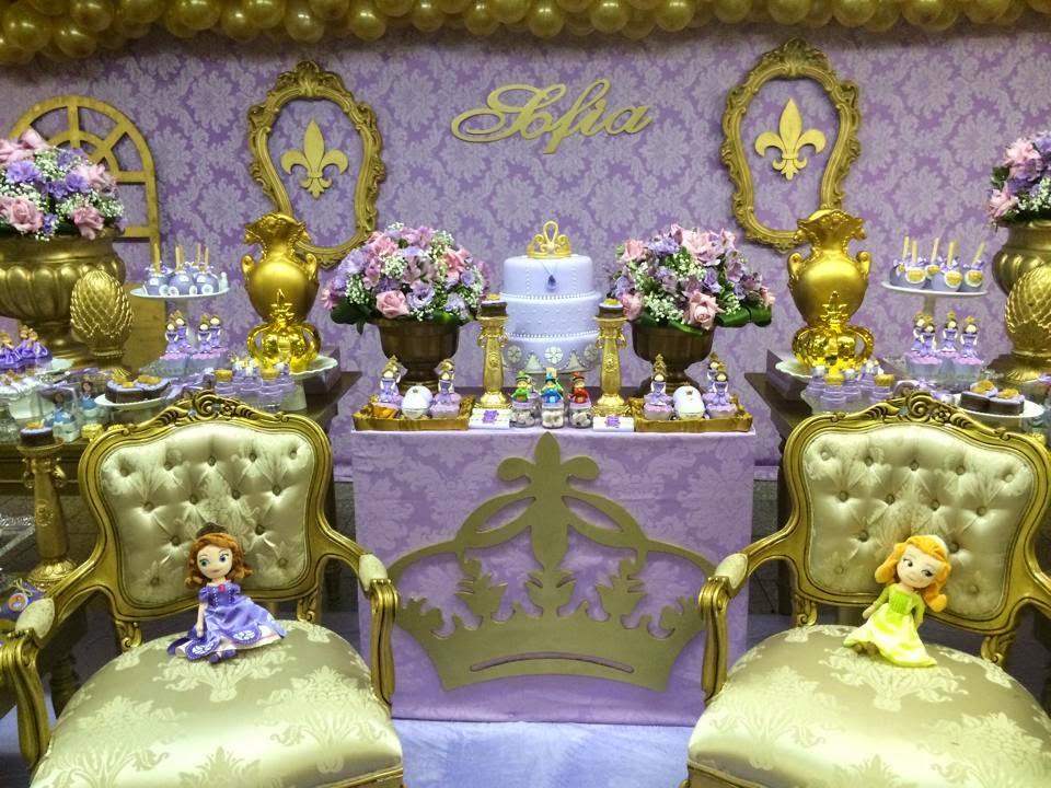 Festa Princesa Sofia 70 Modelos Com Fotos e Super Dicas -> Decoração De Festa Infantil Realeza Luxo