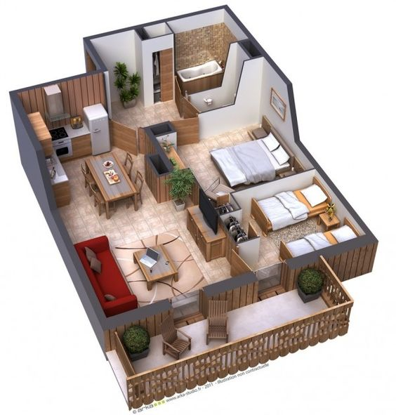 Plantas de casas pequenas 60 projetos e modelos gr tis - Progettare casa 3d gratis ...