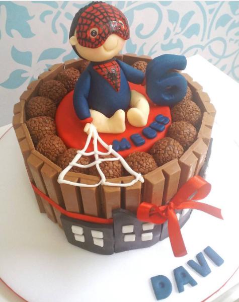 bolo do homem-aranha 1