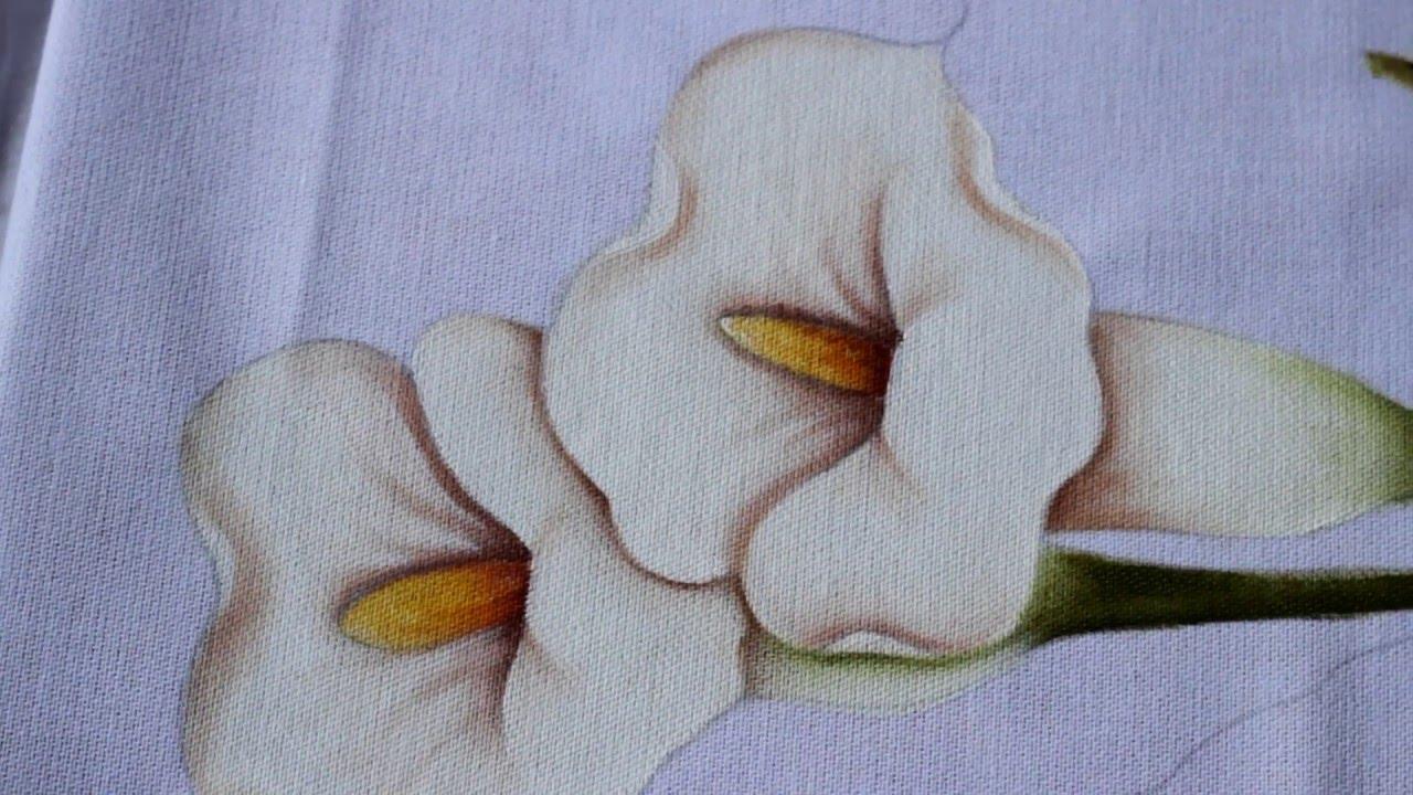 Pintura em tecido copo de leite