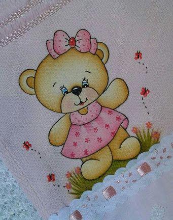 ursinho no tecido para crianças