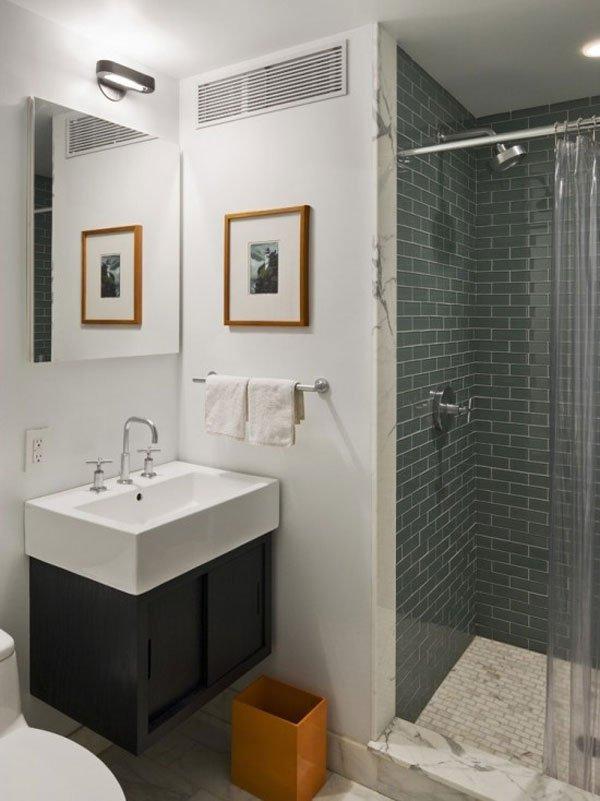 Banheiros pequenos planejados lindos
