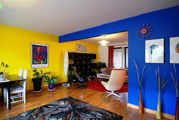 Cores que combinam com azul para pintar paredes