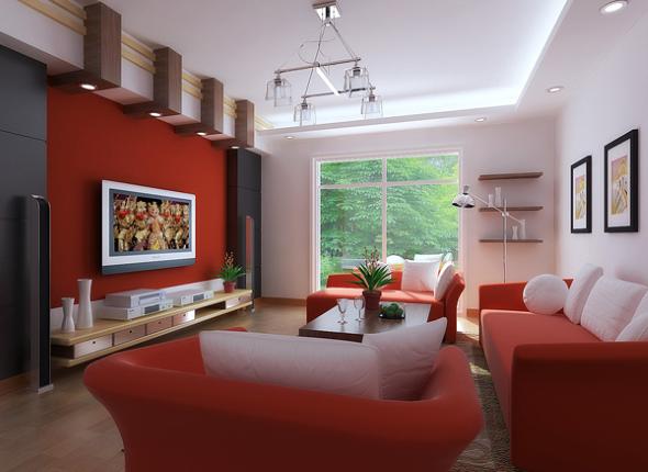 Cores que combinam com vermelho na parede