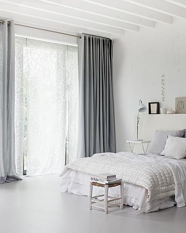 Estilo escandinavo cortinas