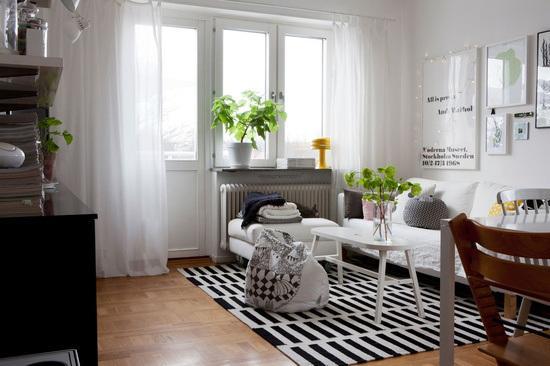 Estilo escandinavo cortinass