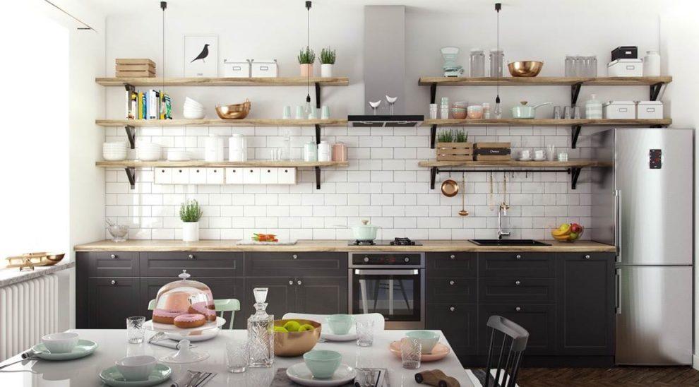 Estilo escandinavo cozinha