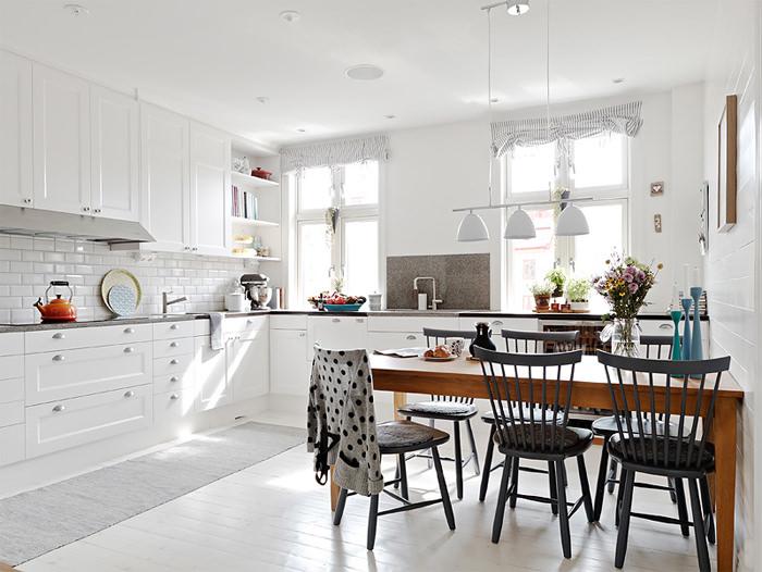 Estilo escandinavo cozinhaa