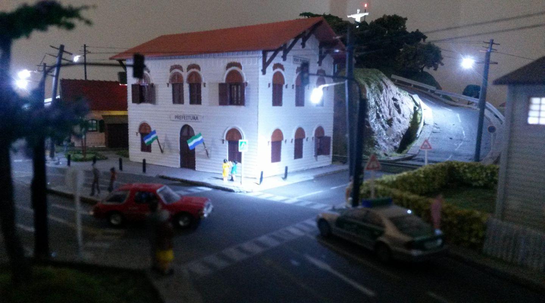 Iluminação da rua com a utilização de leds