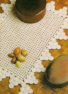 Jogo americano de crochê margaridas