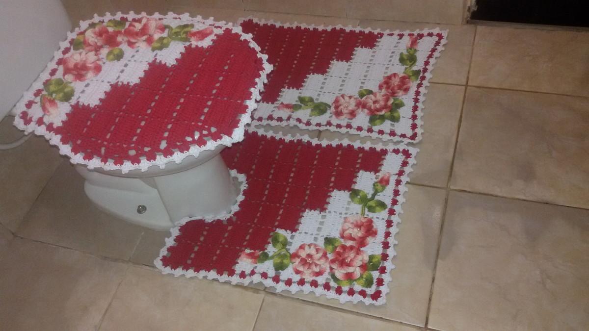 Jogo de banheiro dual color florr