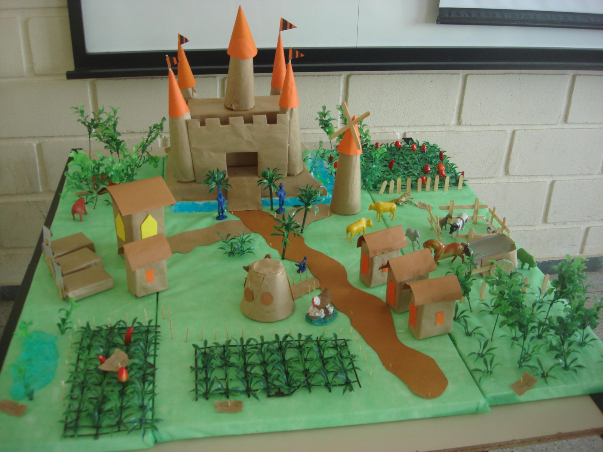 Maquete de cidade feudal