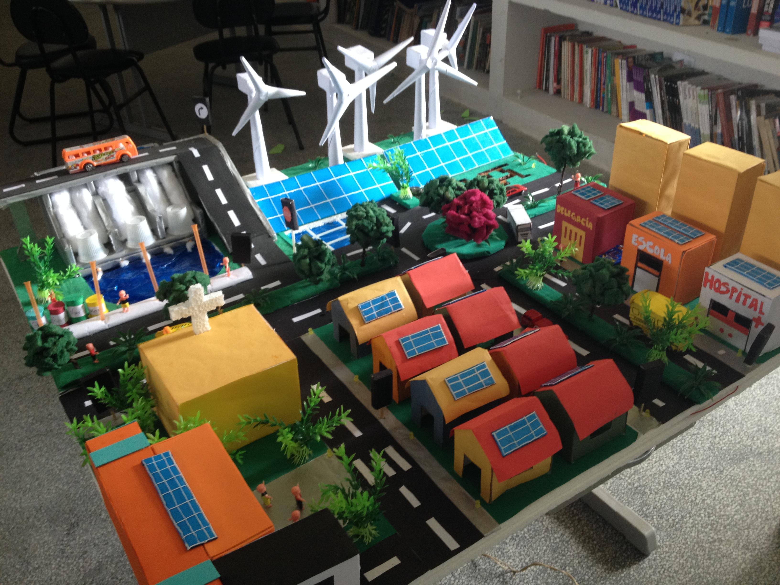 Maquete de cidade sustentável