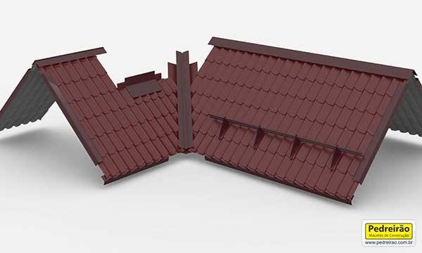 Modelo de telhado em l