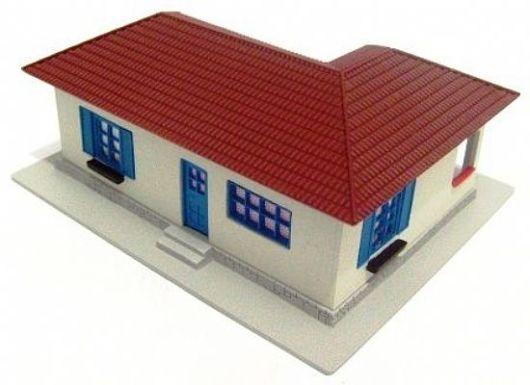 Modelo de telhado emm l
