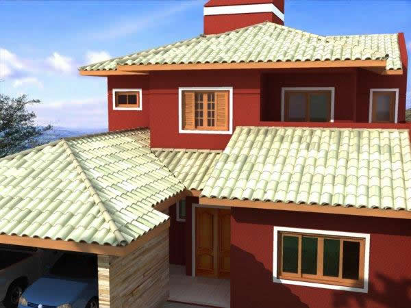 Modelo de telhadoo em l