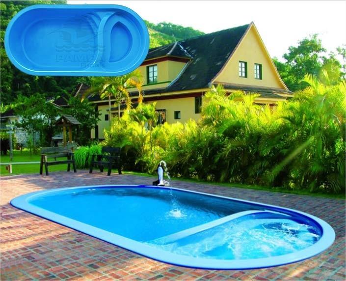 Piscina de fibra 60 fotos lindas para voc como limpar for Modelos de piscinas de campo