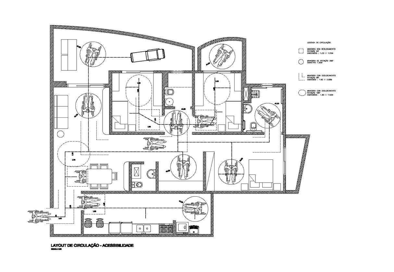 Planta de apartamento acessívell