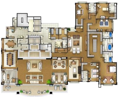Planta de apartamento grande7