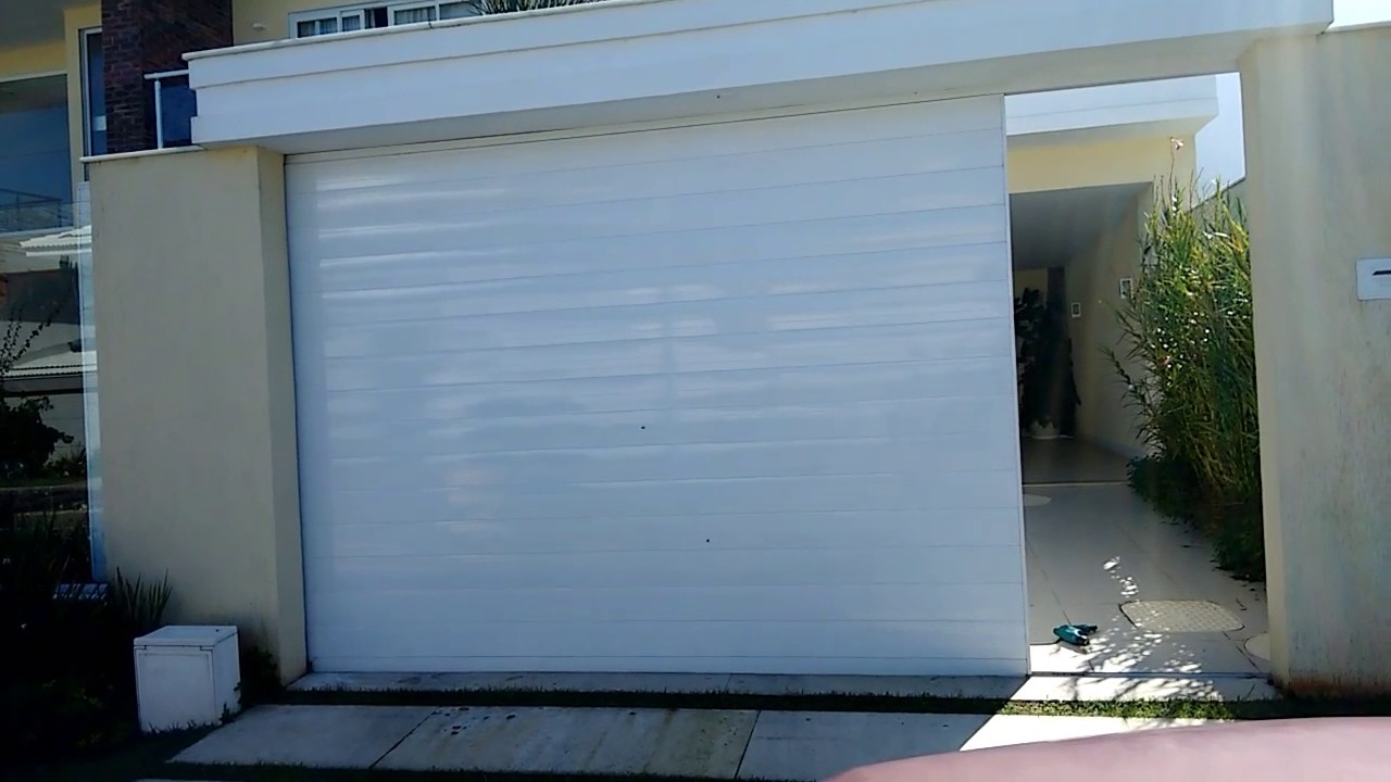 Portão de alumínio brancoo