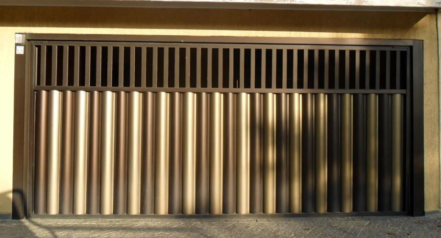 Portão de alumínio bronze