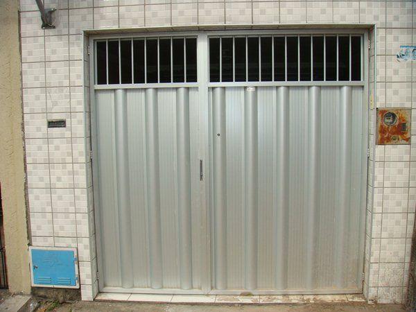 Portão de alumínio duas bandass