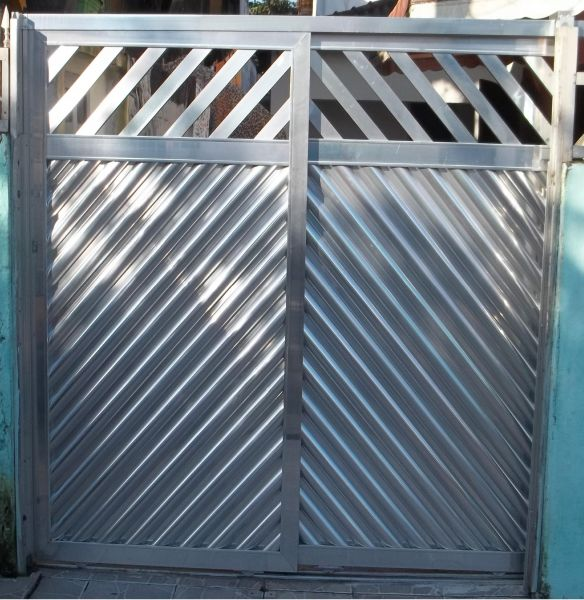 Portão de alumínio duas folhas