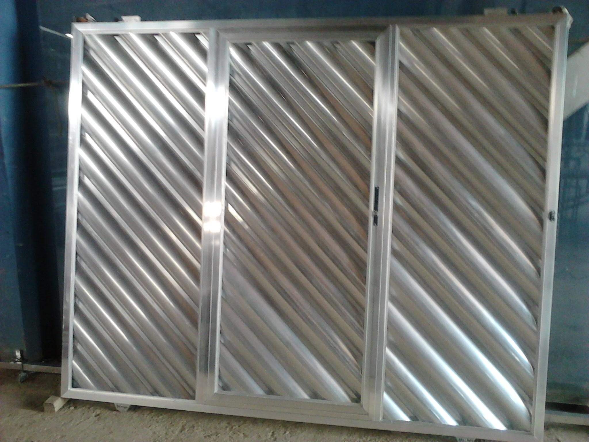 Portão de alumínio galvanizado