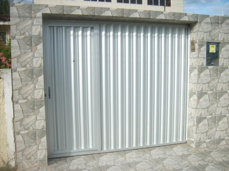 Portão de alumínio galvanizadoo