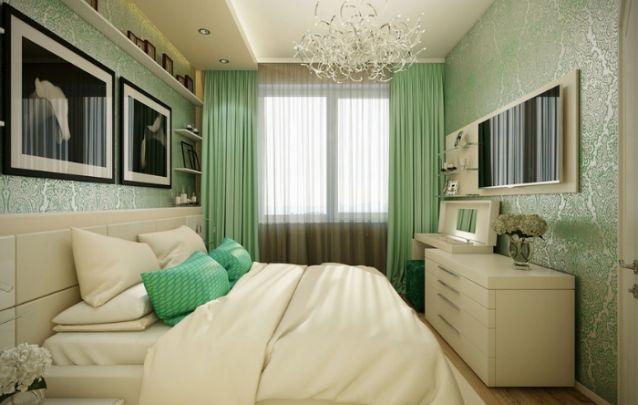 Verde nas corinas parede e almofadaas com marrom