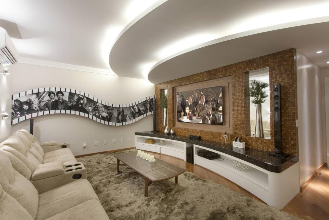 casa decorada no estilo cinema