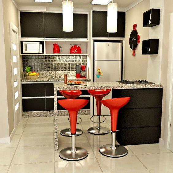 cozinha americana simples e moderna
