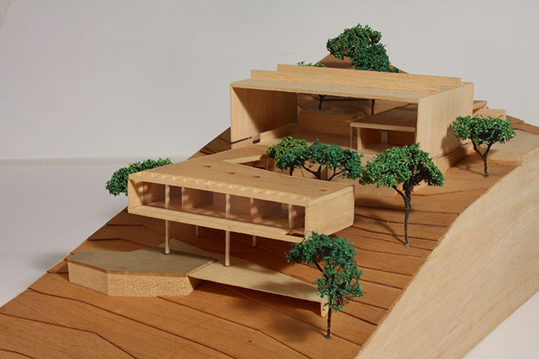 maquete de madeira