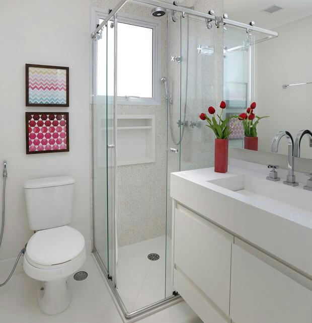 Banheiro quadrado 24 ideias lindas e sensacionais para voc for Banos modernos para apartamentos